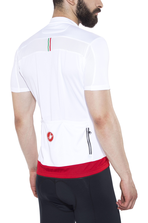 7c5b5a640 Castelli Prologo V Bike Jersey Shortsleeve Men white at Bikester.co.uk